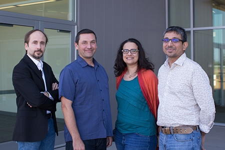 Professors Carpin, Kello, Sindi and Balasubramaniam are part of the expansion of computational training.