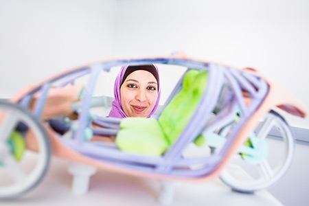 Professor Ala Qattawi is the first woman in the U.S. to earn a doctoral degree in automotive engineering,