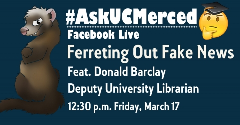 This graphic promotes the new AskUCMerced Facebook Live series.