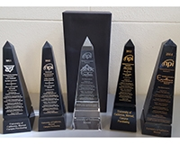 Image shows the five procurement awards UC Merced has won since 2011.