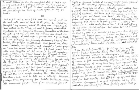 Gary Fisher, 1961-1994, was a gay African American man who enjoyed writing and drawing and was a dedicated diarist. He died of AIDS at the age of 32 in San Francisco. This page, dated Feb. 7, 1991, is from one of his journals and it illustrates the fear, uncertainty and hope that surrounded the use of new medications to treat HIV and AIDS. (Gary Fisher Papers, San Francisco Public Library)