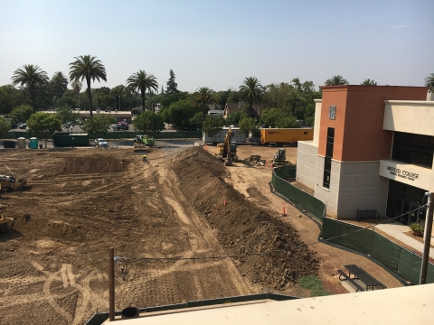 Construction of the Downtown Campus Center is underway.