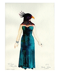 One of Dunya Ramicova's costume design illustrations