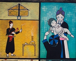 Hmong artwork is on display at the UC Merced Art Gallery.