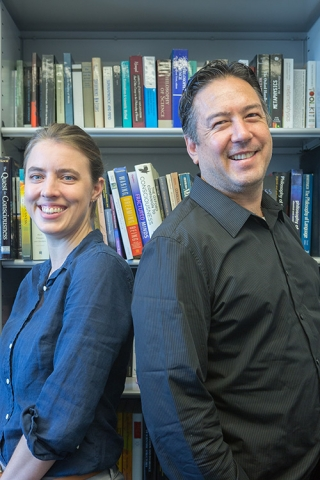Professors Carolyn Dicey Jennings and Jeffrey Yoshimi