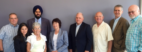 Visitors from Modesto, including city council members, the mayor and city manager, met with campus leadership on Aug. 5