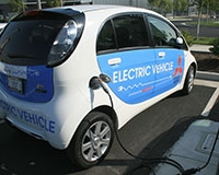 The campus's electric vehicles are helping reduce its carbon footprint.