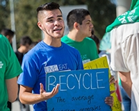 Students contribute much to UC Merced's culture of sustainability.