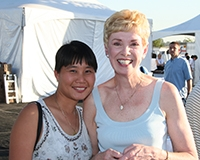 Min Jiang with founding Chancellor Carol Tomlinson-Keasey