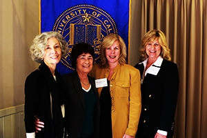 Ann Andersen, Chancellor Dorothy Leland, Mindy Broadley and Judy Boyer