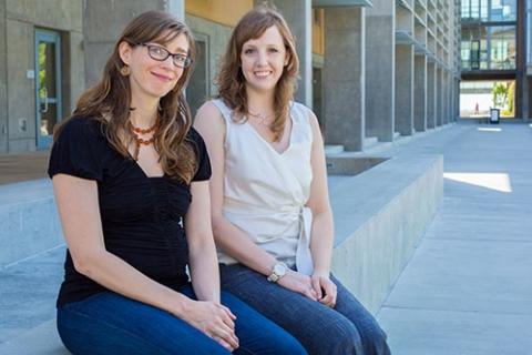 Makenzie Provorse, right, works with Professor Christine Isborn.
