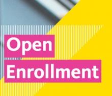 Graphic art for UC's Open Enrollment.