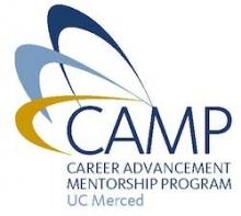 Logo for UC Merced's Career Advancement Mentorship Program (CAMP)