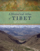 "Cover of Professor Karl Ryavec's book, titled ""A Historical Atlas of Tibet."""