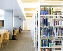 Books in the UC Merced Library suffered no damage after a recent water leak due to the book stacks' location.
