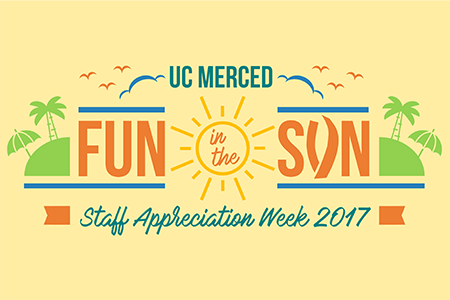 Fun in the Sun logo shown for UC Merced's 2017 Staff Appreciation Week
