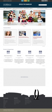 Yosemite is the name of a new responsive website template offered by University Communications. Three template options, including one with a full-sized slider, are available.