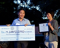 Michael Sanfilippo won top honors during the 2015 Chancellor's Innovation Awards.