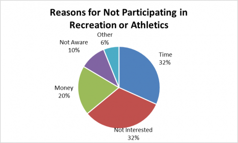 Reasons for Not Participating in Rcreation or Athletics