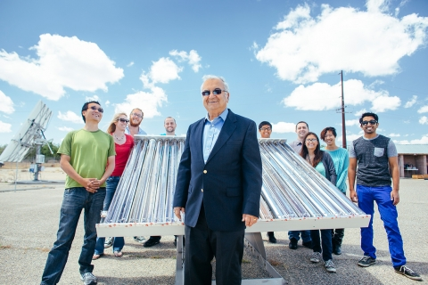 Professor Roland Winston and his students at UC Solar work on projects to advance knowledge about and applications of solar energy.