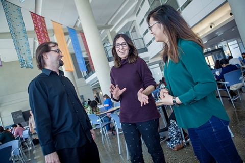 Professors Michael Spivey, Teenie Matlock and Stephanie Shih (from left to right)