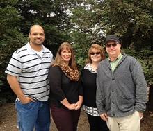 Staff members from left: Joseph Ramos, Sherry Coane, Carla Krogh and Jaymz Harkey